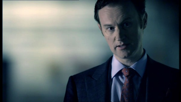 Mark Gatiss as Mycroft Holmes in BBC Sherlock