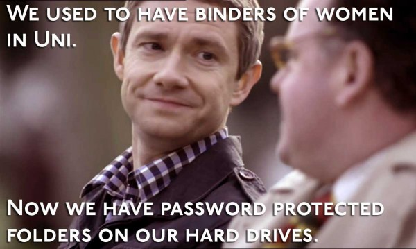 Martin Freeman as John Watson in BBC Sherlock smiling at Stamford