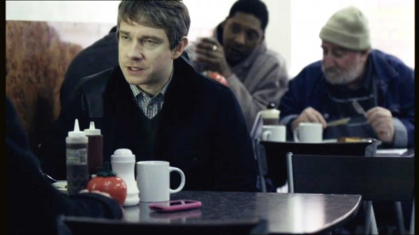 Martin Freeman as John Watson in the BBC series Sherlock looking dopey