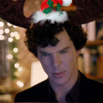 Benedict Cumberbatch as BBC Sherlock looking at computer screen with a puzzled frown; text says: John, why am I on the 'naughty' list?