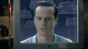 Andrew Scott as James Moriarty as actor  Richard Brook