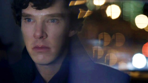 Benedict Cumberbatch as BBC Sherlock looking sad