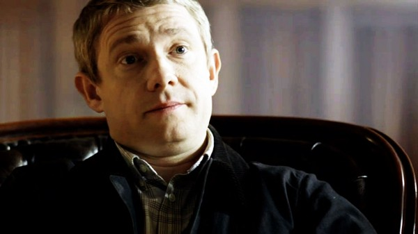 Martin Freeman as John Watson from BBC Sherlock looking surprised