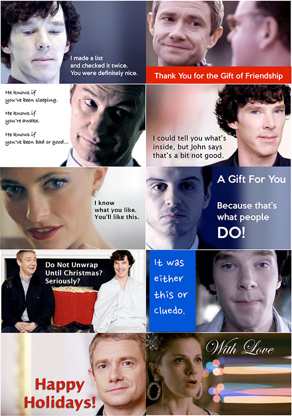 An image of the Sherlock Holiday Gift Tag PDF