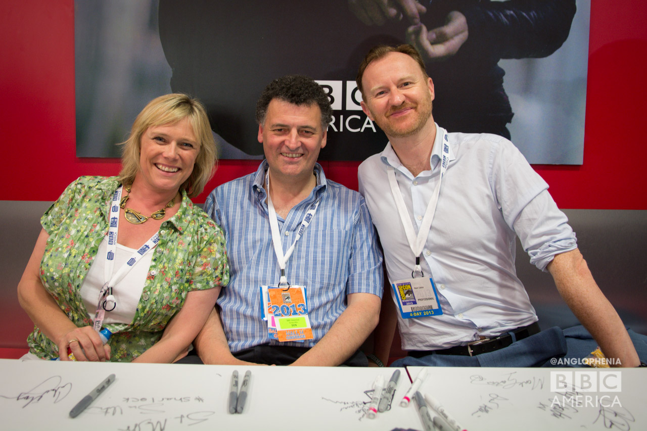 SDCC 2013 Sherlock Season 3 Panelist - Sue Vertue, Steven Moffat, and Mark Gatiss