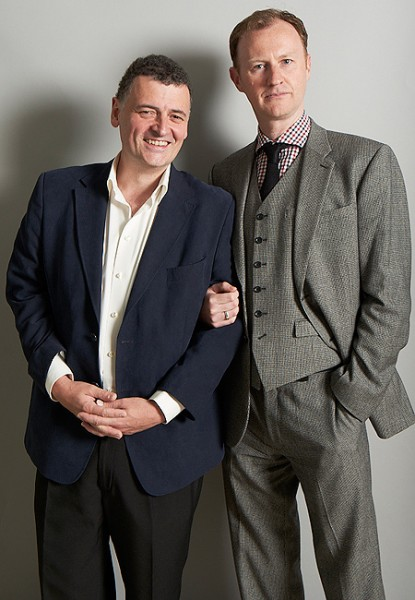 Steven Moffat and Mark Gatiss of BBC Sherlock